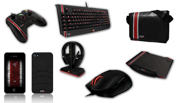 Razer Bioware Mass Effect 3 gaming gear