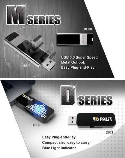 Palit DI00, DI01 and ME00 flash drives