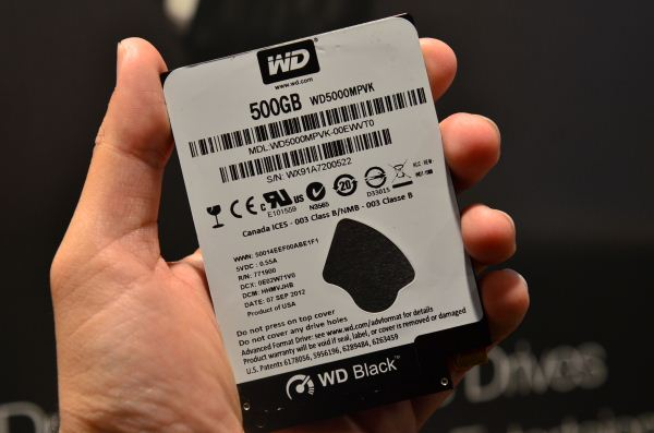 WD 5 mm hard drive