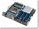 ASUS exhibits high-end P9X79-E WS motherboard