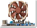 Noctua exhibits cooling fan with noise canceling technology