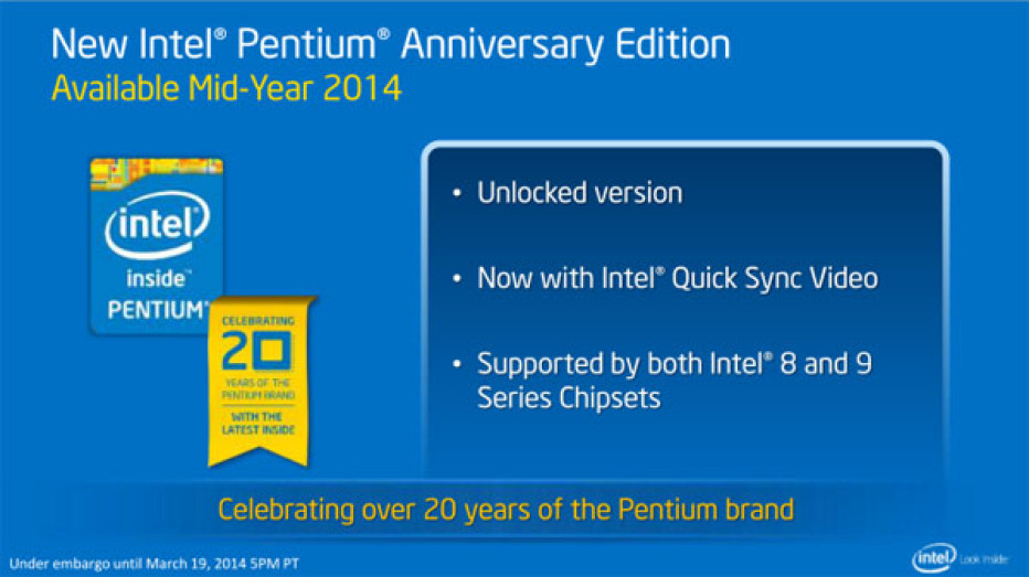 Intel to release unlocked Pentium processor