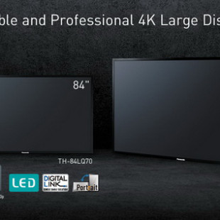 Panasonic presents giant OLED 4K displays