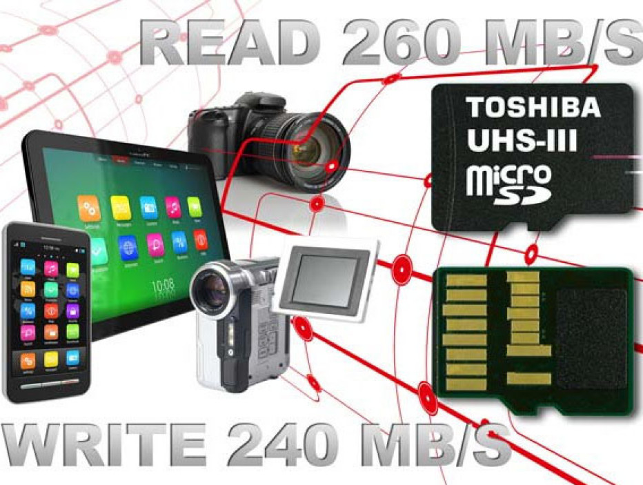 Toshiba presents super speed memory cards