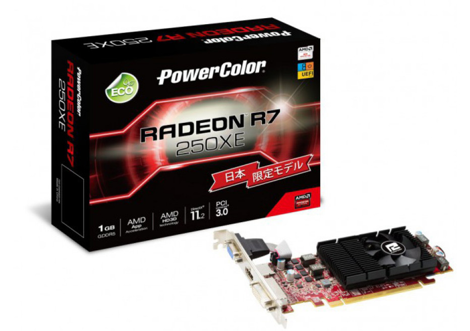 Radeon R7 250XE is for Japan only