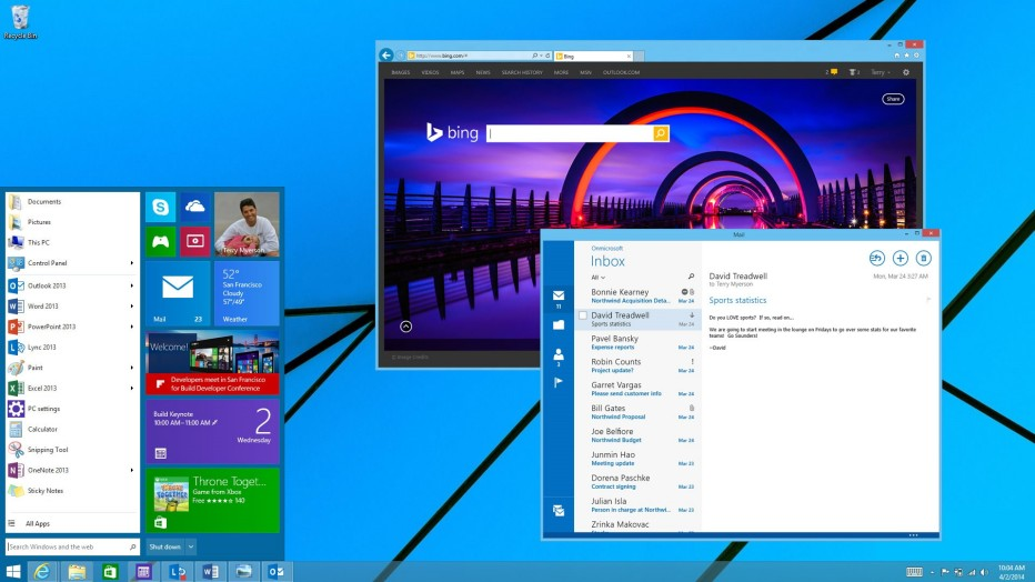 You can now download Windows 10 Technical Preview