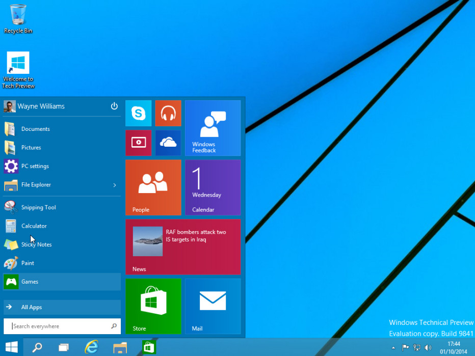 Windows 10 Technical Preview collects user data