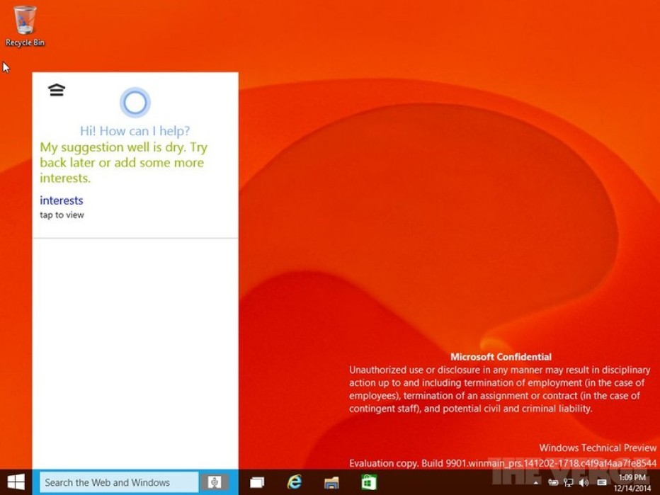New Windows 10 build reveals more features