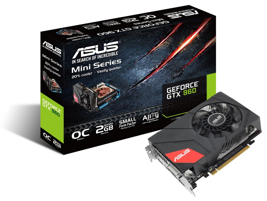 ASUS offers compact GTX 960 video card