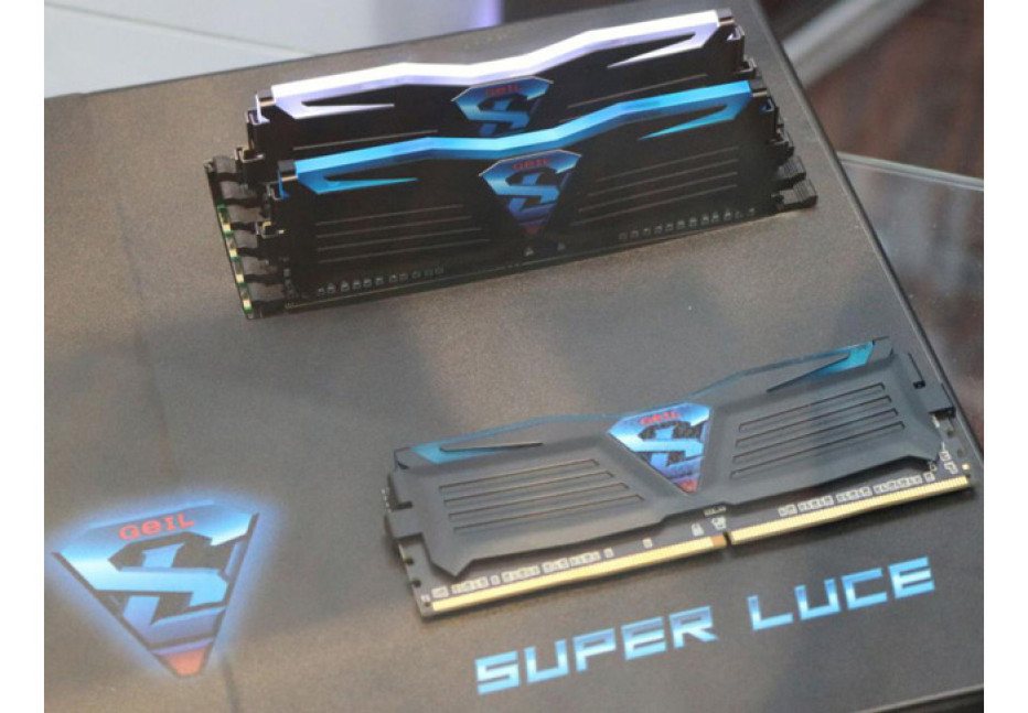 GeIL shows off DDR4 memory with LEDs