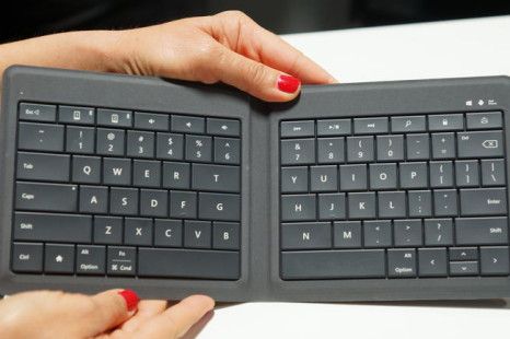 Microsoft presents foldable keyboard