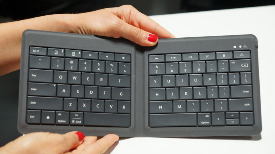 Microsoft presents foldable keyboard