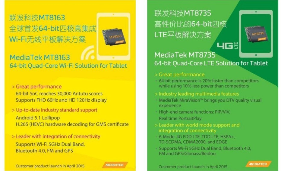 MediaTek unveils two new tablet processors