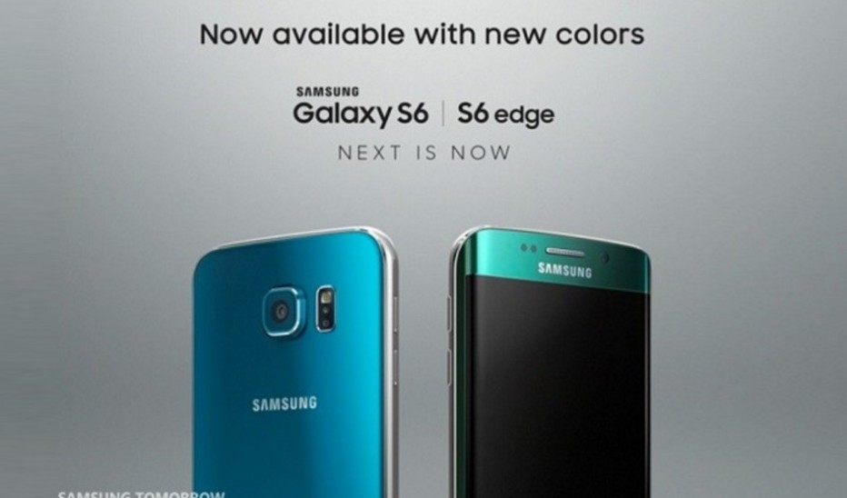 Galaxy S6 and S6 Edge get new colors