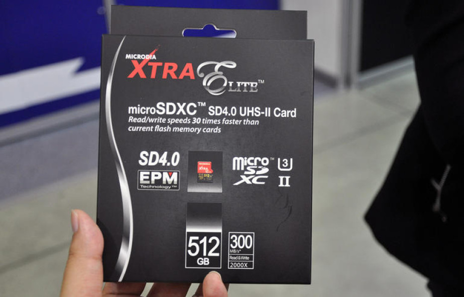 Microdia presents microSD card with record capacity