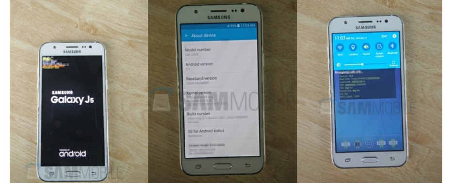 First photos of Samsung Galaxy J5 smartphone