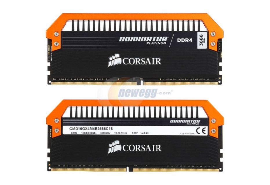 Corsair launches DDR4 memory at 3666 MHz