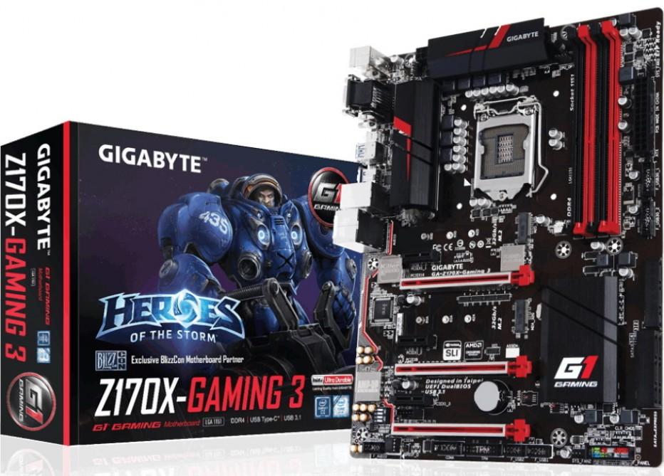 Gigabyte releases GA-Z170X Gaming 3 motherboard