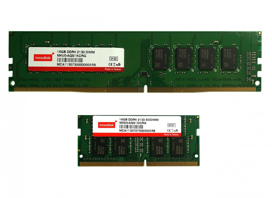 Innodisk announces new 16 GB DDR4 memory modules