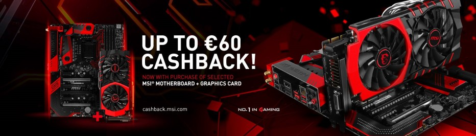 MSI offers cashback program to customers in Europe