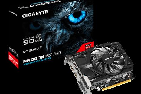 Gigabyte releases short R7 360 video card