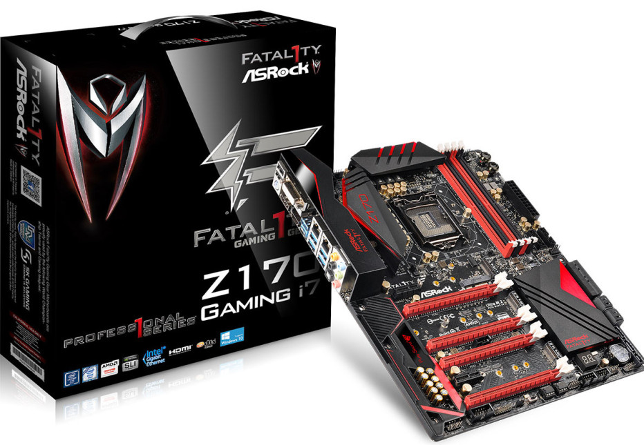 ASRock presents the Fatal1ty Z170 Professional Gaming i7 motherboard