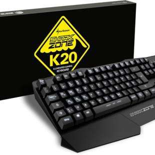 Sharkoon debuts Shark Zone K20 gaming keyboard