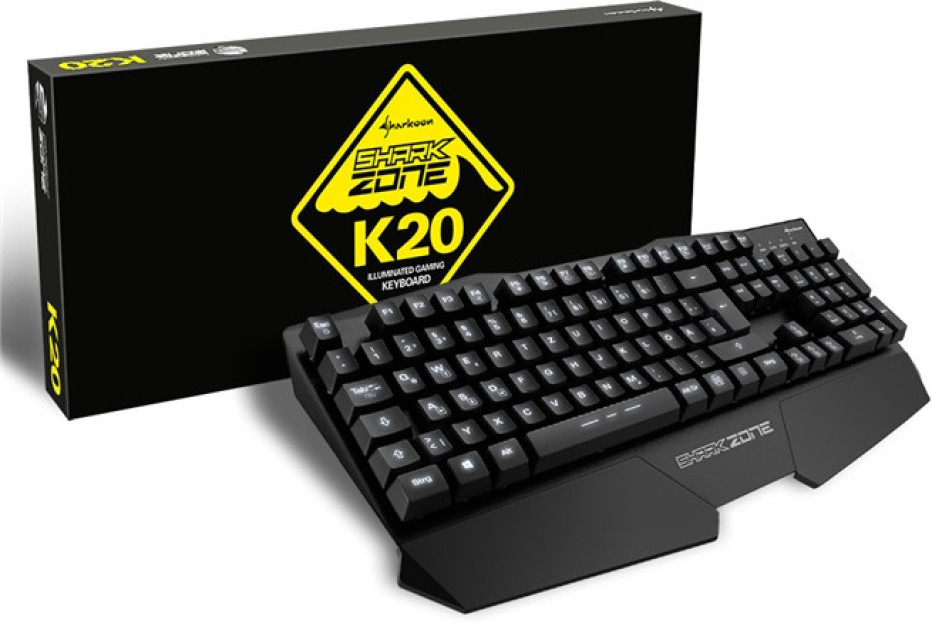 Sharkoon debuts Shark Zone K20 gaming keyboard