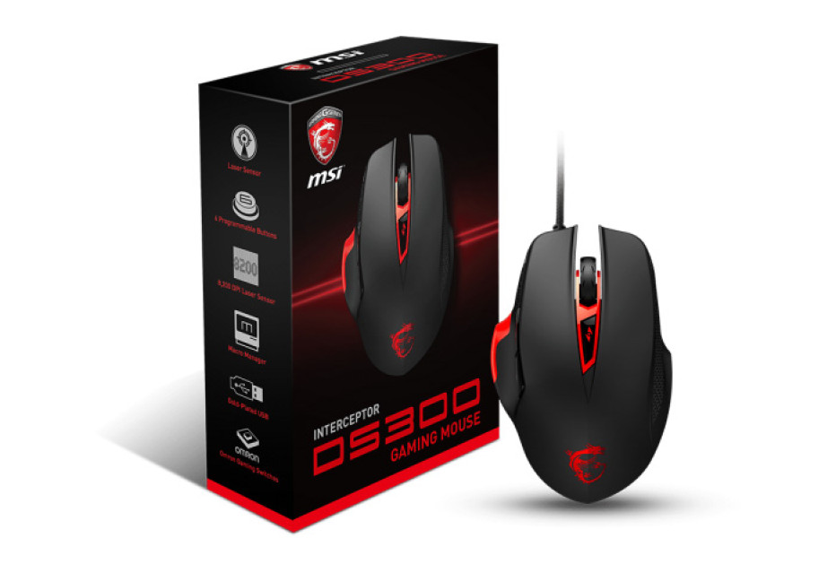 MSI releases Interceptor DS300 gaming mouse