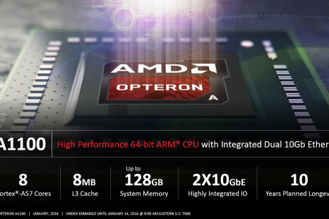 AMD announces Opteron A1100 Series ARM processors