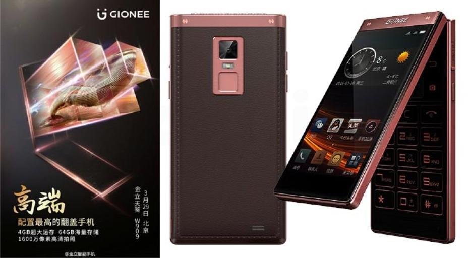 Gionee presents W909 flip smartphone
