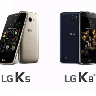 LG announces K5 and K8 smartphones