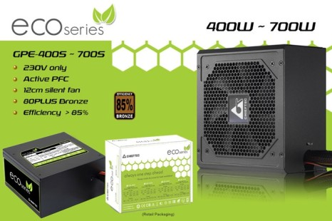 Chieftec launches Eco series PSUs