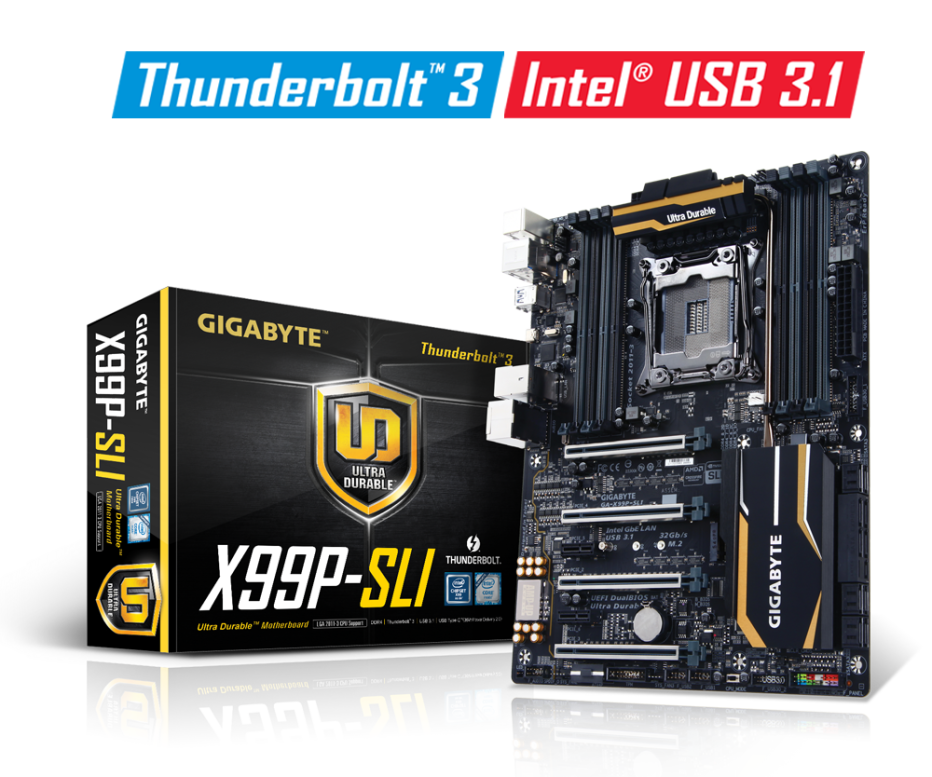 Gigabyte releases first X99 board with Thunderbolt 3