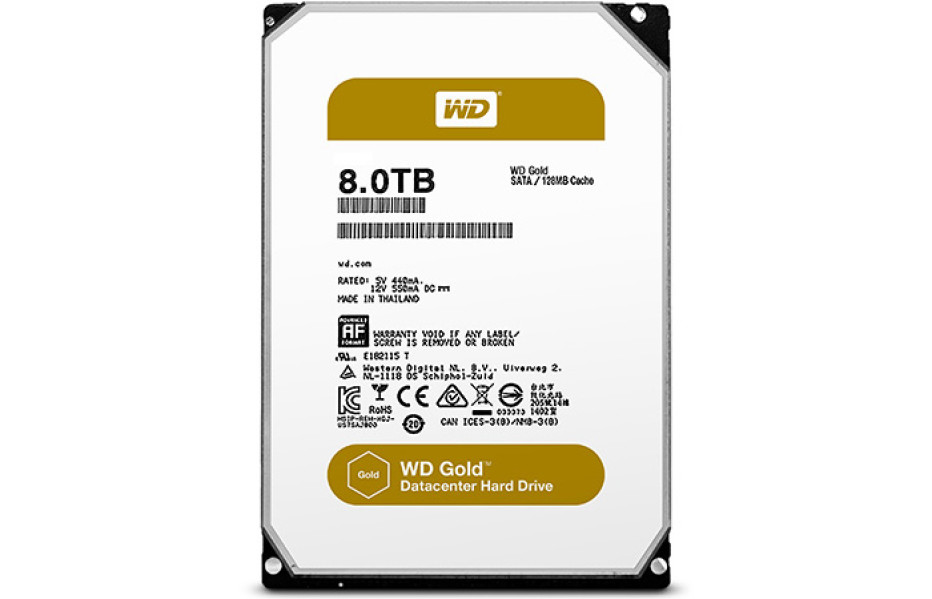 Western Digital introduces Gold hard drives