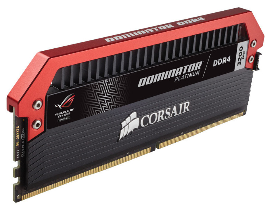 Corsair debuts DDR4 Dominator Platinum ROG Edition