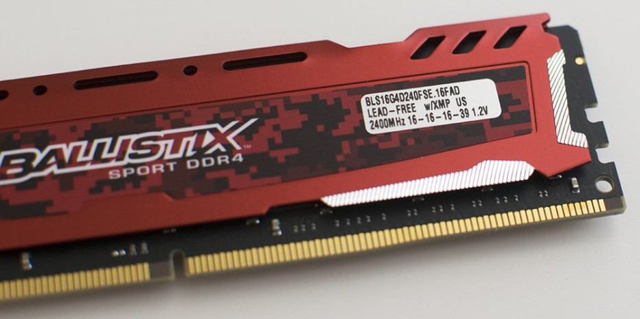 Crucial presents Ballistix Sport LT Red DDR4 memory