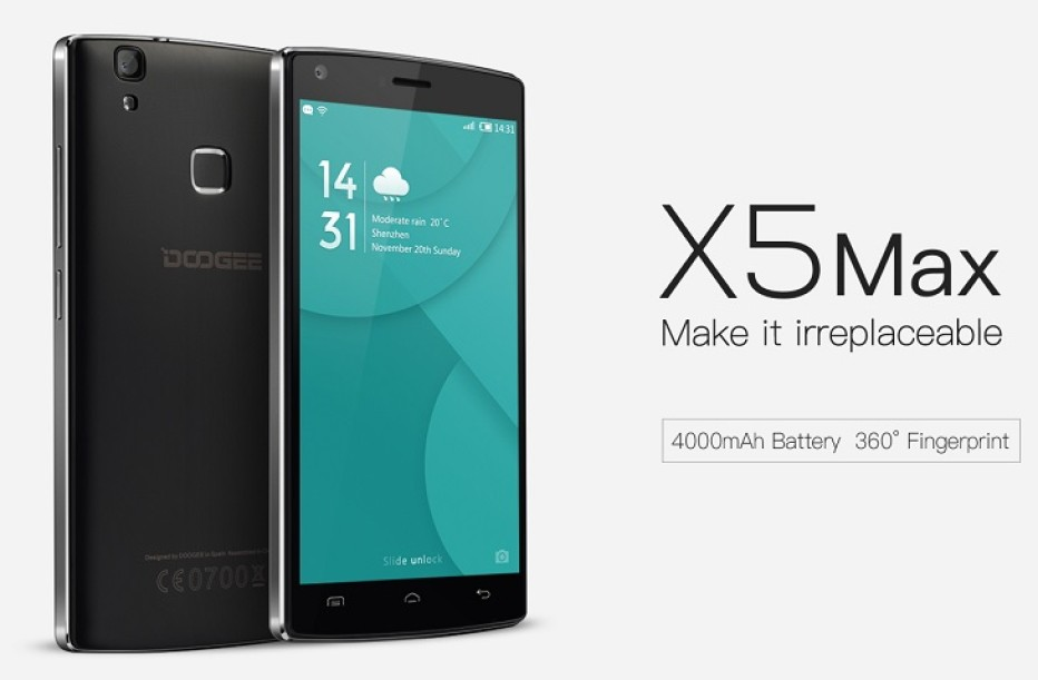 Doogee announces the X5 Max smartphone