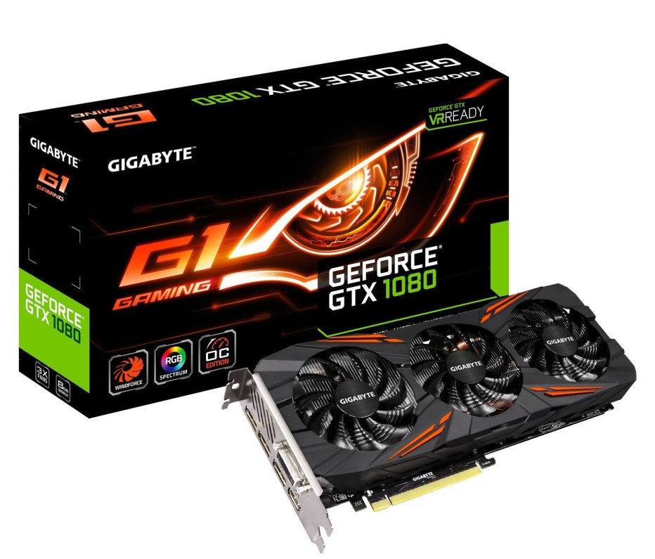 Gigabyte announces GeForce GTX 1080 G1 Gaming video card