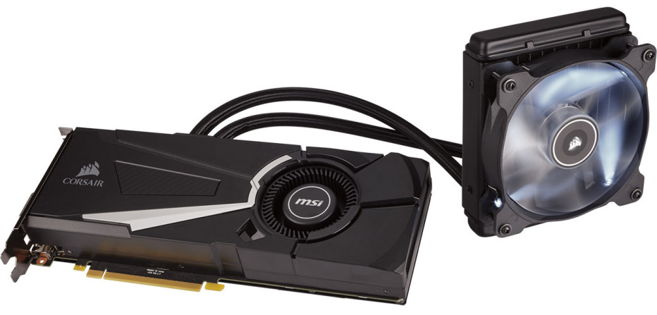 Corsair releases the Hydro GFX GTX 1080 video card