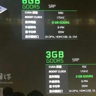 GeForce GTX 1060 3 GB gets described in China