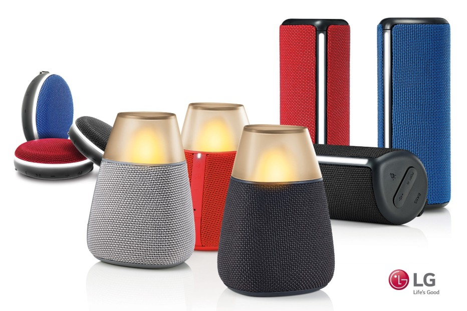 LG reveals the PH2, PH3 and PH4 portable speakers