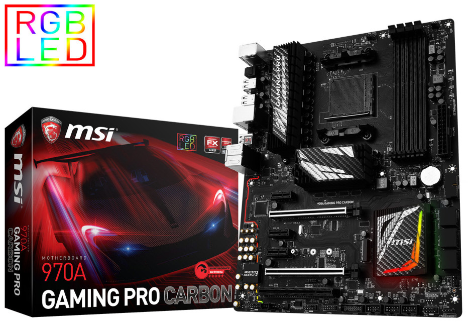MSI debuts the 970A Gaming Pro Carbon motherboard
