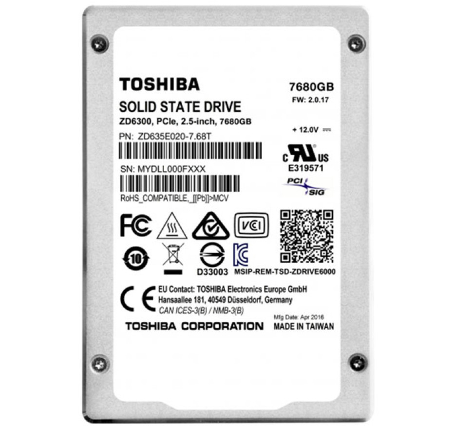 Toshiba announces ZD6000 series SSDs with enormous capacity