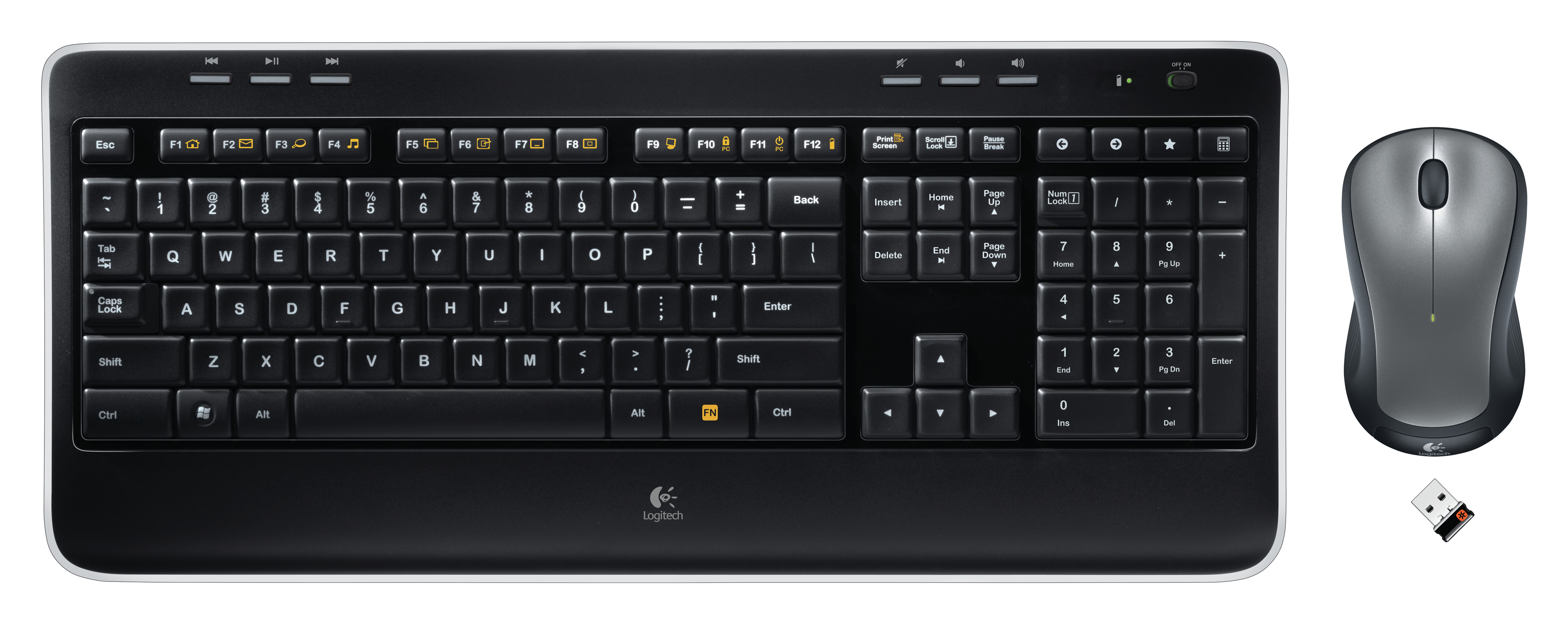 logitech intros new wireless keyboard and mouse combo mk520. Black Bedroom Furniture Sets. Home Design Ideas