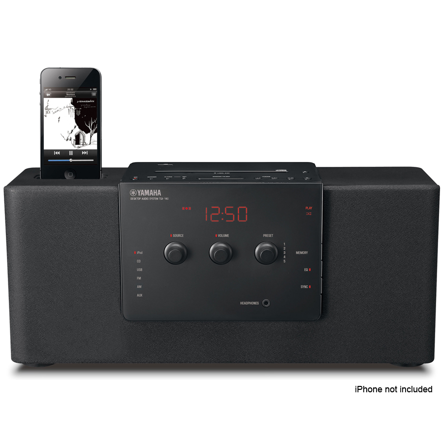 Yamaha tsx 140 desktop audio system will wake you gently for Yamaha stereo systems