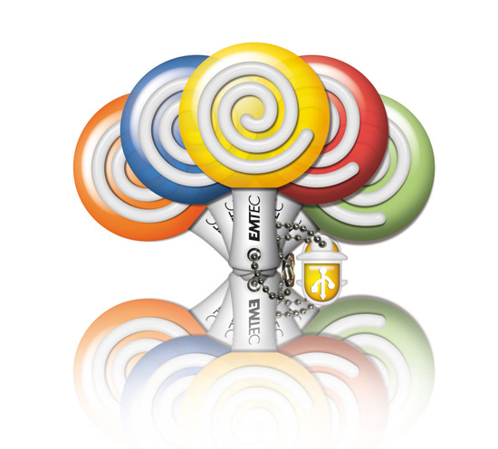 emtec M300 Mini USB key M300 'Lollipop'