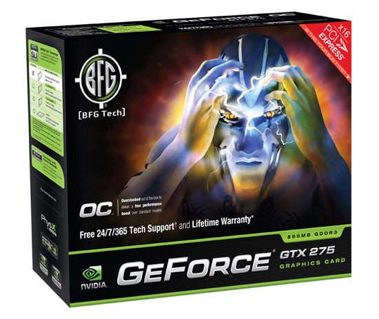 BFG GeForce GTX 275 OC box