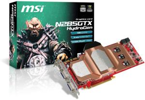 MSI N285GTX HydroGen graphics card