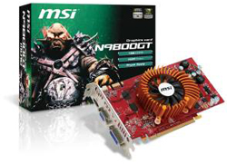 MSI N9800GT Series of Green